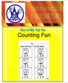 Counting Worksheets - 1-20 (Animals 1-10, Shapes 11-20)  30 Pages-  PreK, K