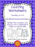 Counting Worksheets: Counting to 5