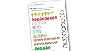 Counting Worksheets- Easter
