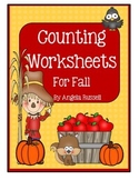 Counting Worksheets For Fall