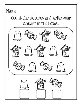 Counting Worksheets - Halloween