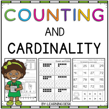 Counting and Cardinality (Counting Worksheets)-Freebie