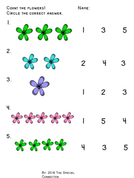 Counting Worksheets: Spring Edition