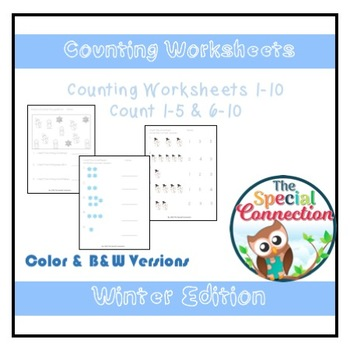 Counting Worksheets: Winter Edition