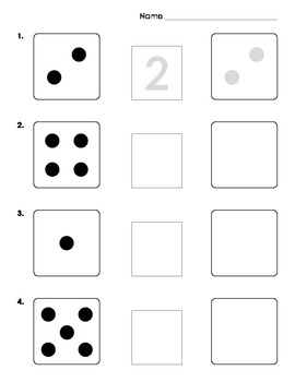 Counting Worksheets and Matching Game