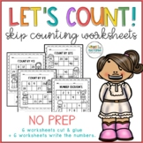 Number Sequence and Skip Counting Worksheets NO PREP