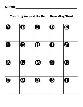 Counting Write the Room