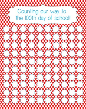 Counting Your Way to 100th Day Class Chart