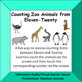 Counting Zoo Animals  Eleven - Twenty  Fun Interactive A/V