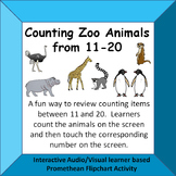 Counting Zoo Animals 11-20 Fun Interactive Audio/Visual Promethean Activity