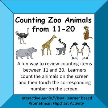 Counting Zoo Animals 11-20 Fun Interactive Audio/Visual Pr