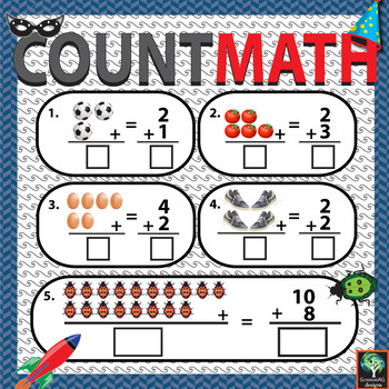 Counting Worksheets - Visual Basic Adding with pictures for practicing quantity