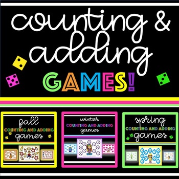 Counting and Adding Games all Year Long - BUNDLE!