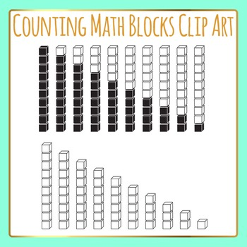 Counting and Addition Math Blocks Clip Art for Commercial Use