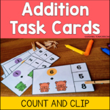 Counting and Addition to 10 Math Clip Cards with Recording