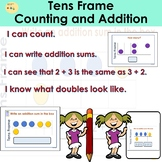 Counting and Addition to 10 Tens Frame Task Cards PowerPoint Presentation