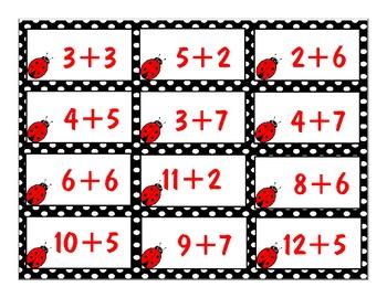 Counting and Addtion Math Center: Ladybug Math