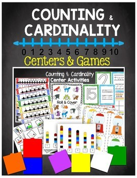 Counting and Cardinality Centers - Activity Tubs - Learning Numbers 1-20