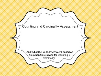 Counting and Cardinality Common Core Assessment