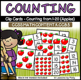 Counting and Cardinality-Count to 20-Clip Cards-Apples
