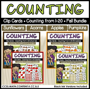 Counting and Cardinality-Counting to 20-Clip Cards