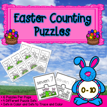 Counting and Cardinality: Easter Counting Puzzles 0-10