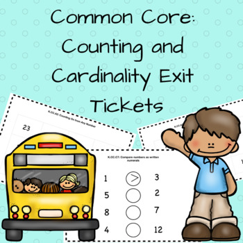Counting and Cardinality:  Exit Ticket Assessments