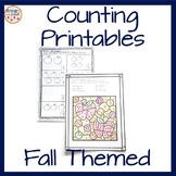 Counting and Cardinality Fall themed Counting Printables