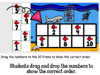 Counting and Cardinality Feed the Shark with Google Classroom