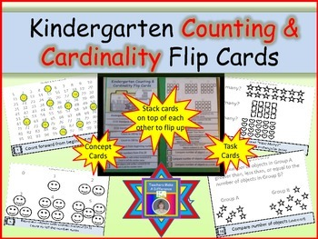 Counting and Cardinality Flip Cards for Kindergarten (Conc