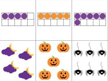 Halloween Counting Activities featuring Tally Marks, Ten Frames and more!