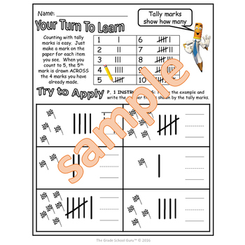 Counting and Cardinality Bundle: Tally Marks, Pictographs, Bar Charts