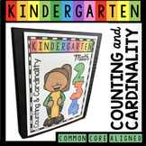 Counting and Cardinality - Kindergarten Complete Unit - Worksheets & Centers