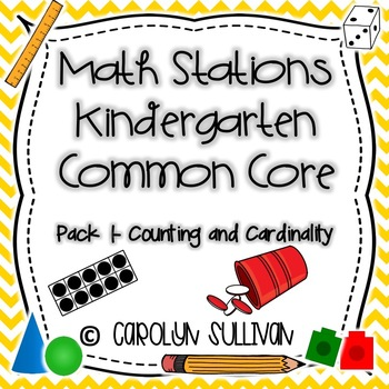 Counting and Cardinality Kindergarten Math Stations!