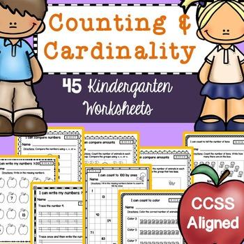 Kindergarten Math Worksheets (Counting & Numbers)