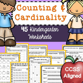 Kindergarten Math Worksheets (Counting & Numbers)