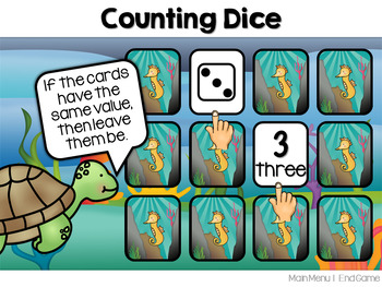 Counting and Cardinality Memory Match ~ Interactive PowerPoint Game