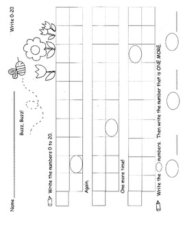 Counting and Number Writing Practice Pages, Homework, Activities 26 pgs