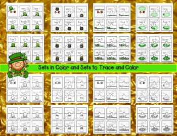 Number Sense : St. Patrick's Day Activities - Number Puzzles 0 to 10