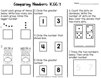 Counting and Cardinality Tests for Kindergarten