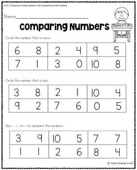 Counting and Cardinality Worksheets / Activities for Kindergarten - Common Core