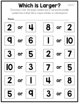 Counting and Cardinality Worksheets - Common Core Aligned