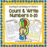Counting and Cardinality for Kinders: Count and Write Numb