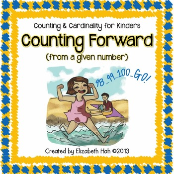 Counting and Cardinality for Kinders: Counting forward fro