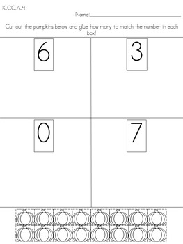 Counting and Cardinality (kindergarten math)