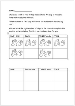 Counting and Clapping Worksheet
