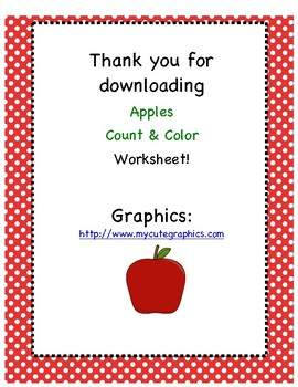 Counting and Coloring: Apples