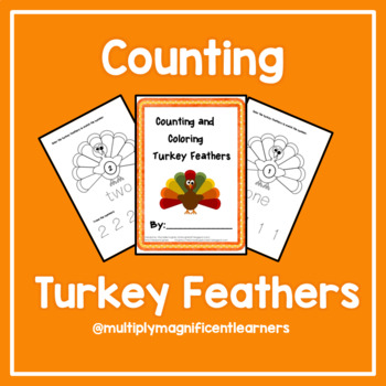 Counting and Coloring Turkey Feathers- Extendend Content Standard Aligned