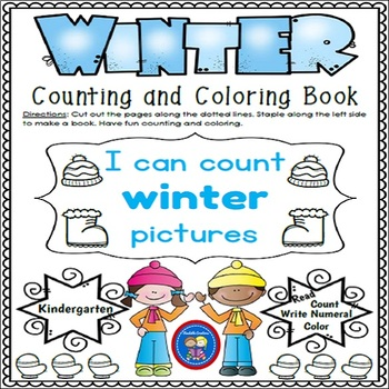 Counting and Coloring Winter Book