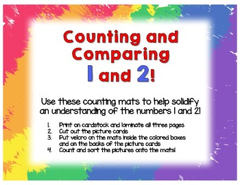 Counting and Comparing 1 and 2